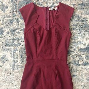 Sexy Wine Form-Fitting Dress | Mystic